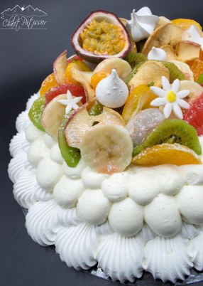 Pavlova fruits de saison